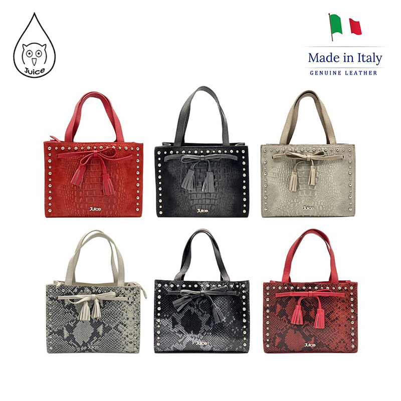 JUICE ,made In Italy, Genuine Leather, Women Bag,Women Handbag 112803P