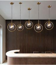 Стеклянный шар декоративная люстра пост современный гальванический