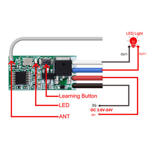 Image 3 - Rubrum 433mhz DC 3.6V 6V 12V 24V 1CH Relè RF Wireless RF Interruttore di Comando A Distanza controller di Lampada A LED Micro Ricevitore Trasmettitore