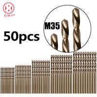 50PCS Drillforce Werkzeuge M35 Kobalt Bohrer Bit Set, 1/1. 5/2/2,5/3mm für Bohren auf Gehärtetem Stahl, Gusseisen & Edelstahl