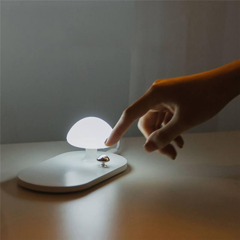 3 жизни 314 2.0A Быстрая Зарядка Qi Беспроводное зарядное устройство с грибом USB зарядка Ночник светильник для телефона светодиодный настольная лампа|Ночники|   | АлиЭкспресс