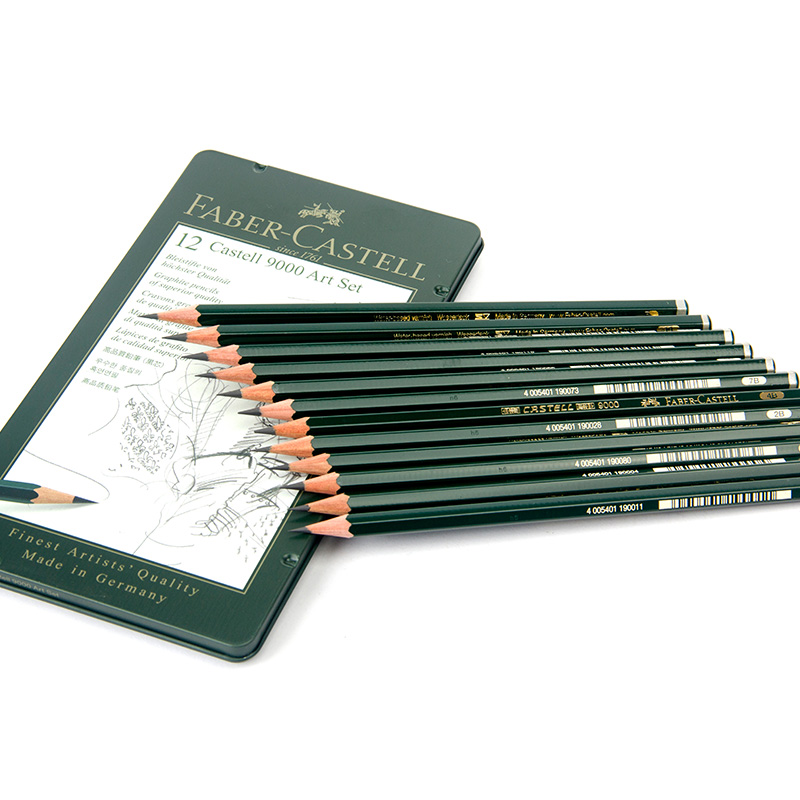Faber Castell 9000 German High Quality 12 Pencils 4B or HB