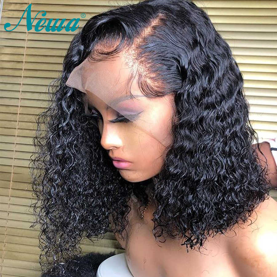 Short Lace Front Human Hair Wigs With Baby Hair Brazilian Lace Front Wig Pre Plucked 13x6 Curly Remy Hair Bob Wigs Newa Hair Human Hair Lace Wigs Aliexpress