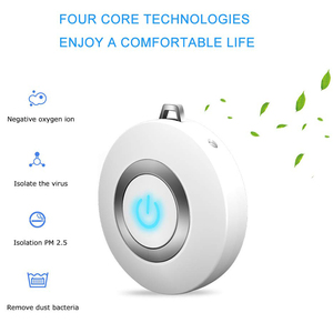 Image 5 - USB Portable Wearable Air Purifier, Personal Mini Air Necklace Negative Ion Air Freshener   No Radiation Low Noise for Adults