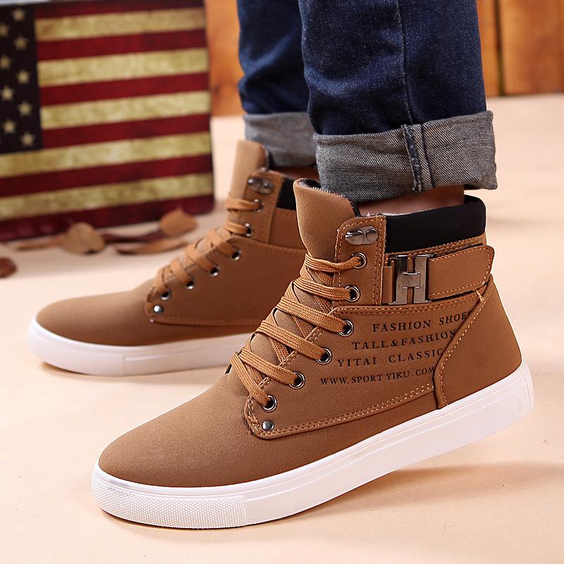Ankle boots men snow boots winter warm Lace up men shoes 2021 new fashion flock plush winter boots men shoe plus size 39 47