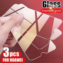 3 pezzi di vetro temperato protettivo per Huawei Y5P Y6P Y7P Y8P Y6S Y7S Y8S Y9 pellicola salvaschermo per Huawei Y6 Y7 Y9 Prime 2018 2019