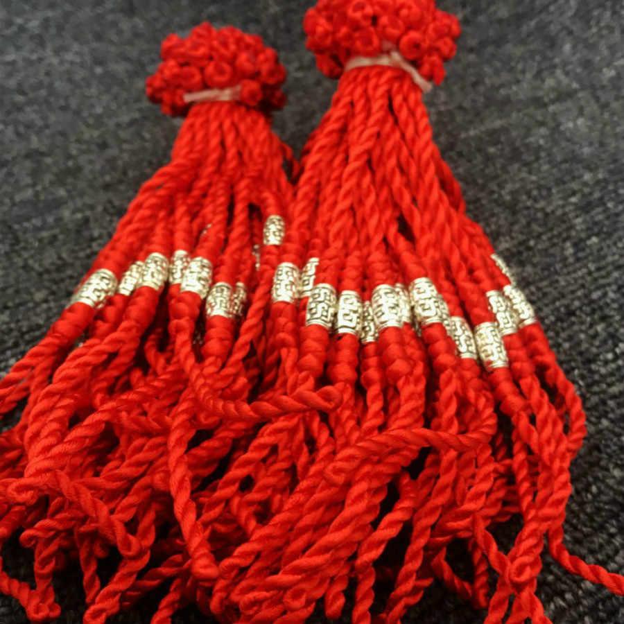 2019 1 szt. Sprzedam modne bransoletki ze sznurków czerwona nić bransoletka sznurkowa Lucky BeadLucky ręcznie robiona bransoletka na sznurku dla kobiet mężczyzn biżuteria