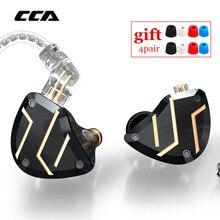 CCA C10 PRO 4BA+1DD Hybrid In Ear Earphones HIFI Metal Earbud headset Monitor Headsets Noise Cancelling Earphones C12 CA16 ZSX