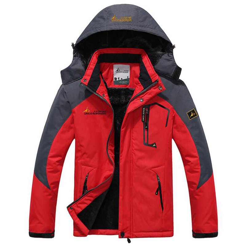 Men's Winter Jackets Coats Windbreak Hooded Parka Men Velvet Warm Military Thick Male title=