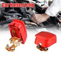 Terminales de batería de coche, pinzas de conector de liberación rápida de electrodo positivo y negativo, Clip Universal, accesorios para coche, 2 uds.