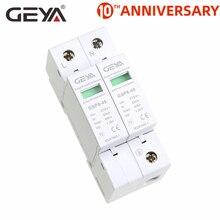 цена на Free Shipping GEYA GSP8 2Pole Surge Protector 220V Din Rail SPD AC275V AC385V 400V 440V 40KA SPD House Surge Protector