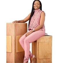 цена на Womens Two Piece Sets 2019 Lace Hollow Out Crop Top & Pants Set Elegant Suit Lady Office Work Party Outfits Female 2 Piece Set