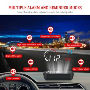 Image 3 - GEYIREN 3.5 OBDII voiture HUD OBD2 Port tête haute affichage M10 compteur de vitesse pare brise projecteur auto hud tête haute affichage a100 hud