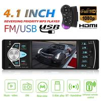 Car Radio Player 1 Din Autoradio 4022D Bluetooth 4.1 Support Rear View Camera Steering Wheel Control Car Stereo