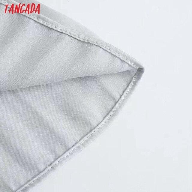 Tangada Women's Party Dress Solid Pleated Maxi Dress Strap Sleeveless 2021 Fashion Lady Elegant Dresse 3H284 5