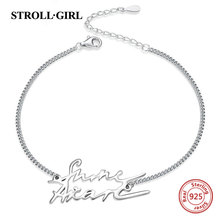 Handwriting Bracelet Customization Personalized Jewelry Gift 925-Sterling-Silver Actual