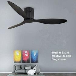 Amerikanischen Industrie Vintage Decke Fan ohne Lichter mit Fernbedienung Ventilador De Techo 220V Schlafzimmer 52Inch Decke Fan