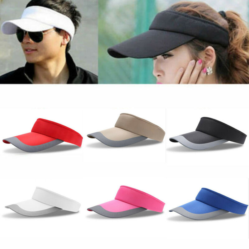 2020 Hot Candy Color Visors New Solid Color Sun Hat Summer Anti-UV Topless Sports Golf Caps For Women Men Hiking Cap Sun Hats