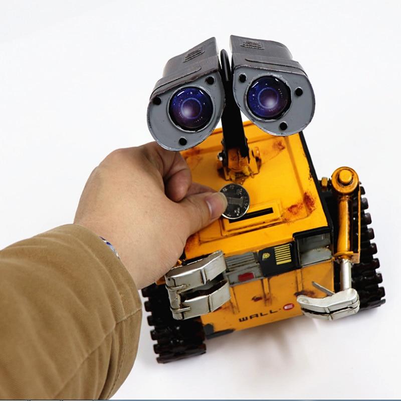 וול-e דקור פיגי בנק דלפק חמוד מתכת מטבע בנק ילדי מתנות רובוט צעצוע תיבת כסף Creative מלאכות לחסוך כסף קופסא לילדים