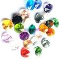 K9 Хрустальная люстра Восьмиугольные бусины (кольца свободного скачка) многоцветные в 2 отверстия ограненные и граненые стеклянные 14 мм пряд...