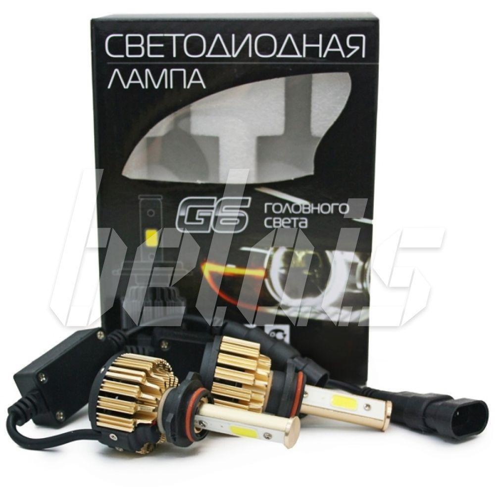 Светодиодные лампы головного света «G6» HB4/9006 5000К #8053