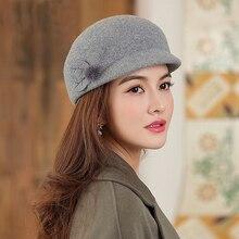 Beckyruiwu autunno e inverno mamma Fedora cappelli donna festa moda cappello ottagonale Lady 100% Australia lana feltro berretto Newsboy