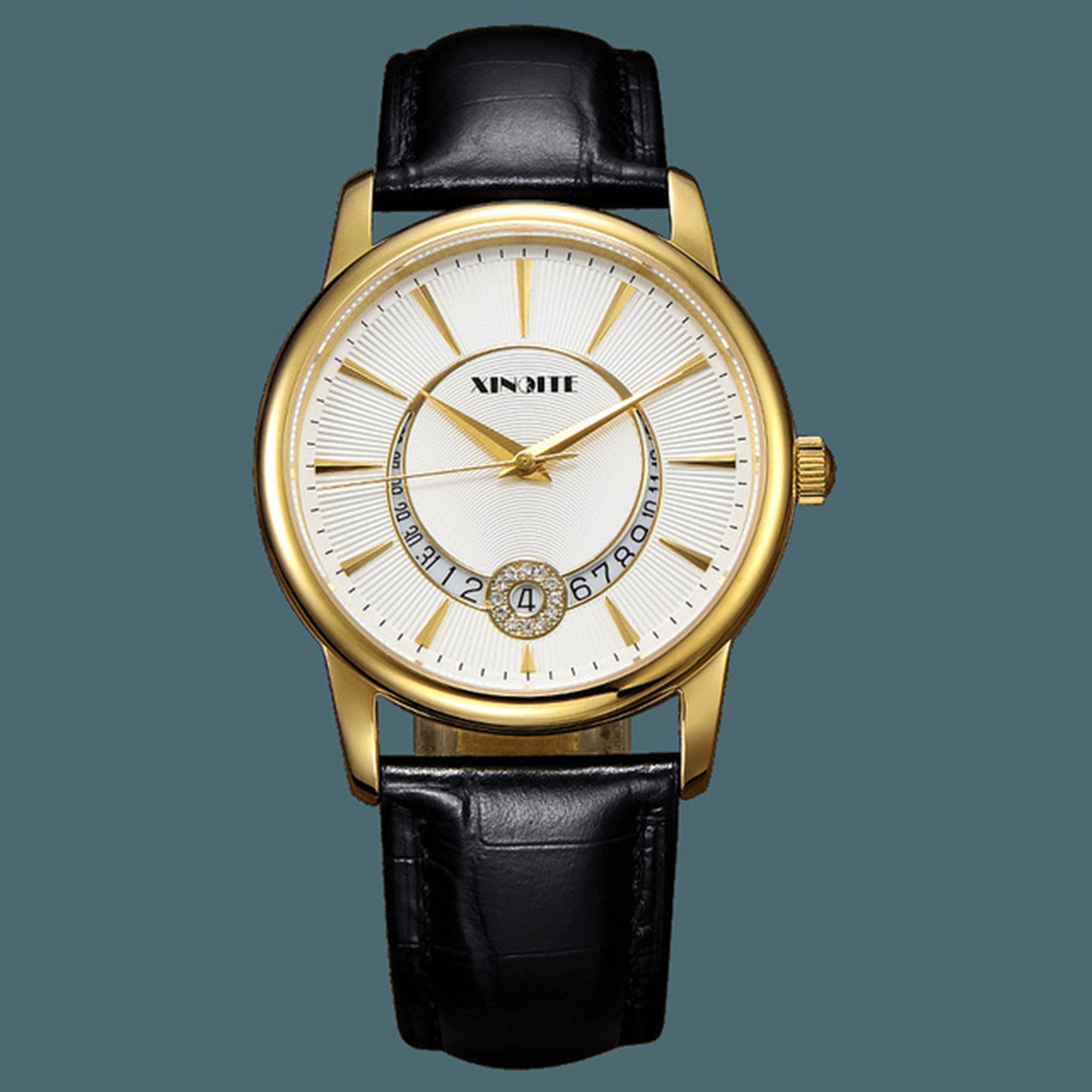 Mechanical Wristwatch Men Automatic Sapphire Crystal Stainless Steel Watch Mens Fashion Gold Set Auger Watches reojes de hombre