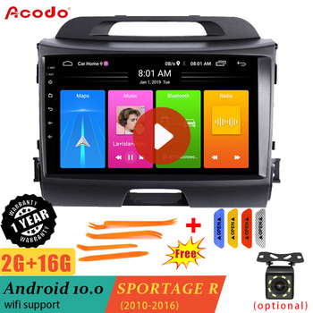 ACODO 2G RAM+16G ROM Android 10.0 Car Radio Multimedia Player For KIA Sportage 3 2010-2016 Navigation GPS 2 din image