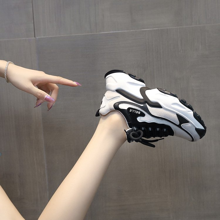 2020 Spring Autumn Women Casual Shoes V Fashion Platform Woman Chunky Sneakers Ladies Sports White Tenis