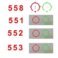 Mira holográfica de punto verde y rojo para caza, punto rojo, mira para rifle de 20mm, para pistola de Airsoft, 551, 552, 553, 558