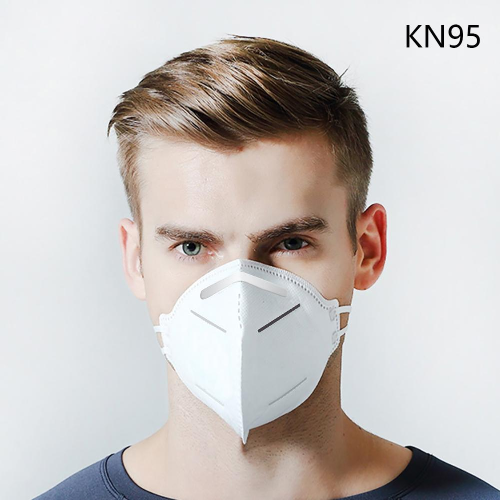 5pc/pack Disposable Mask KN95 Face Mask 95% Filtration Non-woven Fabric Protective Masks Dust Particles Pollution Filter