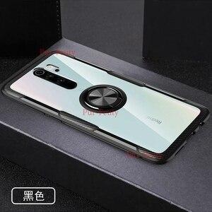 Чехол для Xiaomi Redmi Note 8 Pro, прозрачный акриловый защитный чехол с кольцом для Xiaomi Redmi Note 8, высококачественный чехол с магнитным держателем для а...
