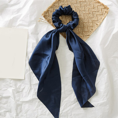 Модный летний шарф «конский хвост», эластичная лента для волос для женщин, бантики для волос, резинки для волос, резинки для волос с цветочным принтом, ленты для волос - Цвет: 0005