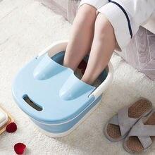 Foldable foot soaking bucket plastic tub pedicure bath wash