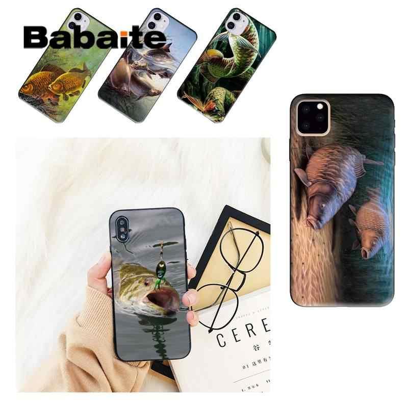 Babaite CARP FISH FISHING Coque Shell Phone Case For iPhone 8 7 6 6S Plus X XS MAX 5 5S SE XR 11 11pro promax 12 12Pro Promax