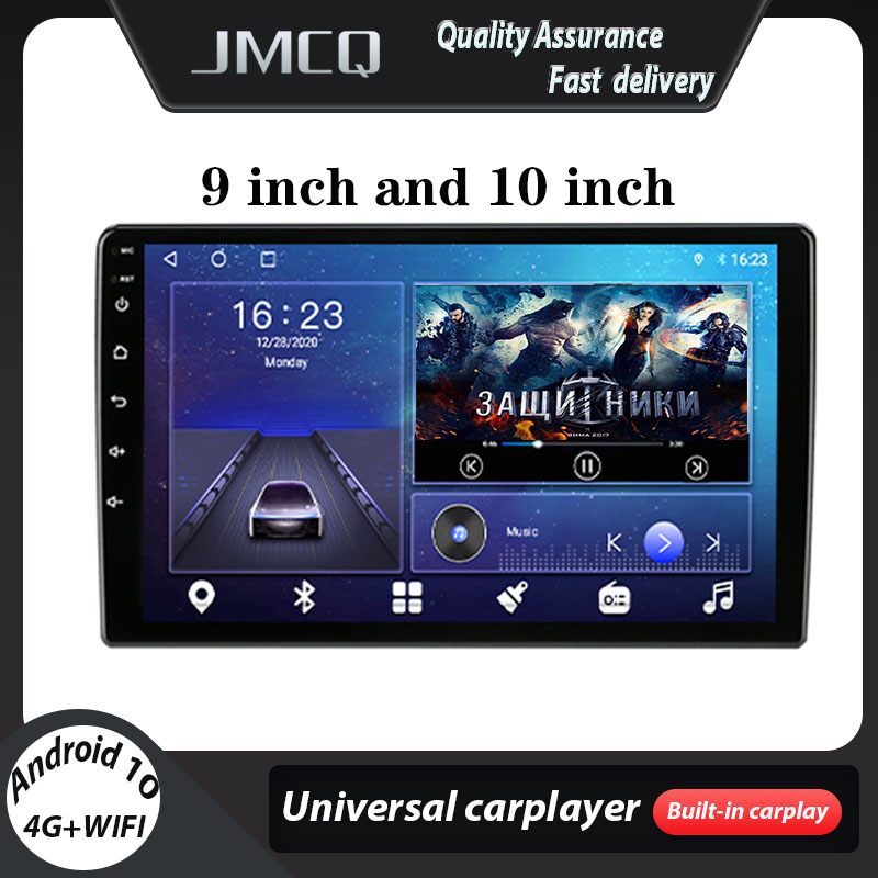 Jmcq android 9.0 universal rádio do carro multimídia player de vídeo 2din 4g jogador dsp gps navigaion 9/10.1