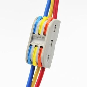 Image 3 - Złącze przewodu szybkie zacisk blok przejściówka Adapter szary/przezroczysty kolor 32A RF, oświetlenie 30/50/100 sztuk Mini uniwersalny