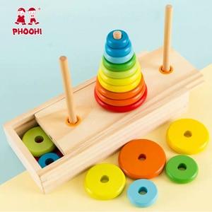 Image 3 - Hanoi Turm Kinder Pädagogisches Spielzeug Holz Frühen Lernen Klassische Mathematische Puzzle Spielzeug für Kinder