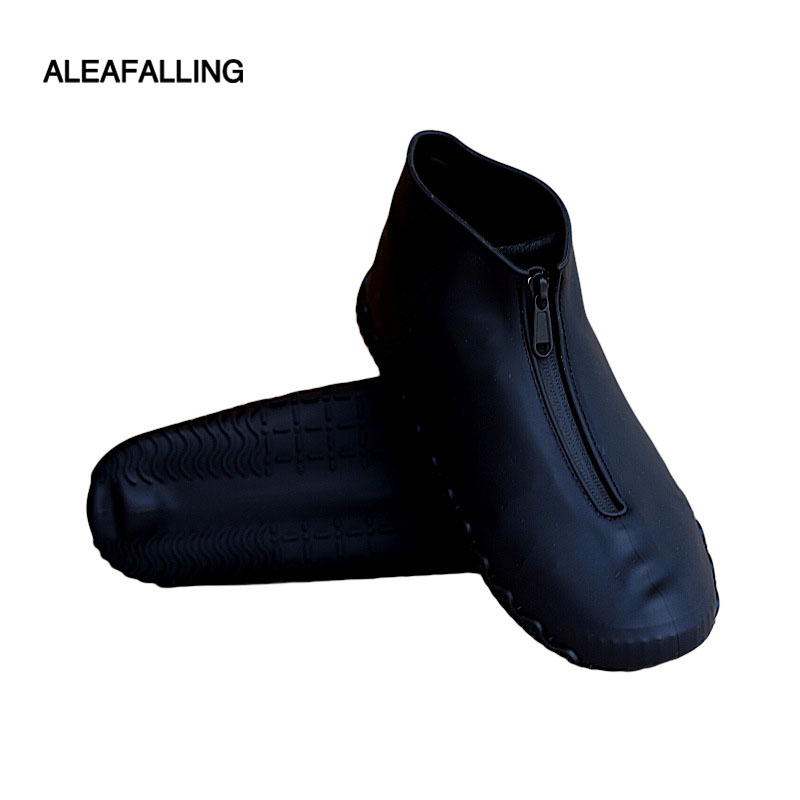 Silicone Rainshoe Sheath Rainproof Waterproof Zip Open Shoe Sheath Outdoor Wear-resistant And Skid-resistant Shoe Sheath