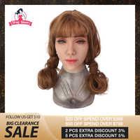 Drag Queen Weibliche Maske Latex Silikon Realistische Menschlichen Haut Masken Halloween Dance Maskerade Schöne Geschlecht Offenbaren Frauen Mädchen