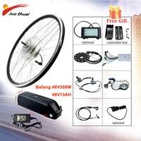 Bafang 48 v 350 w 전기 자전거 기어 허브 모터 앞 바퀴 전기 자전거 변환 키트 26