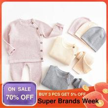 Clothes-Sets Outfits Pants Tops Baby Pajamas Spring Long-Sleeve Newborn Baby-Girl Solid
