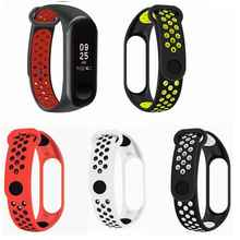 Sport Mi Band 3 4 Strap Dual Color Wrist for Xiaomi mi band sport Silicone Bracelet Smart Watch