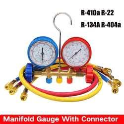 Kolektor Gauge z złącze czynnika chłodniczego urządzenie miernik ciśnienia czynnika chłodniczego urządzenie do napełniania wysokiej precyzji R410a R22 R134a R40 w Manometry od Narzędzia na