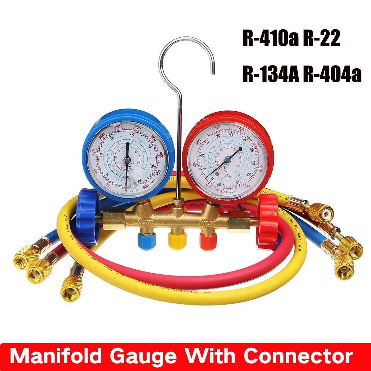 Manifold Gauge With Connector Refrigerant Device  Pressure Gauge Refrigerant Filling Device High-precision R410a R22 R134a R40
