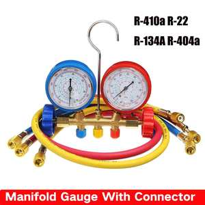 Manifold Gauge With Connector Refrigerant Device Pressure Gauge Refrigerant Filling Device High-precision R410a R22 R134a R40(China)