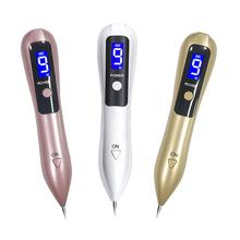 LCD długopis plazmowy maszyna do usuwania pieprzyków tatuaż 9 poziom oświetlenie LED pielęgnacja twarzy usuwanie tagów Laser pieg Pen Wart usuwa ciemne plamy tanie tanio Vytalbrush CN (pochodzenie) Z tworzywa sztucznego Akumulator 3 5x18cm