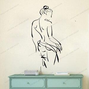 Виниловая наклейка на стену, домашний декор, художественная наклейка, силуэт, сексуальная девушка, женщина, ванная комната, спа, салон, роспи...