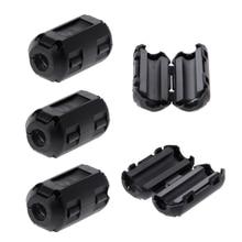 цена на 5 Pcs 5mm Clip-On Ferrite Ring Core Noise Suppressor For EMI RFI Clip Cable Active Components Filters