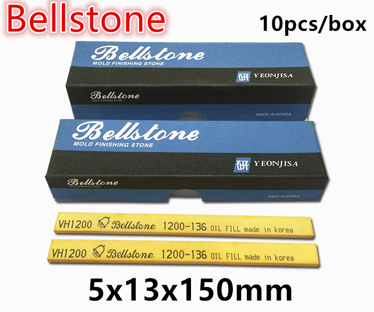 10pcs/box 5x13x150mm BellStone Sharpener Oil Stone Mold Polishing Hign Grade VH Polishing Stone